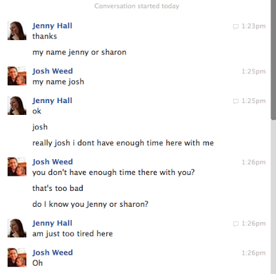 Ode to Jenny or Sharon, my new soul mate